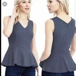 Banana Republic Peplum Wool Blend Top *New* Size 6